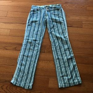 Billabong pants cotton rich stripe slacks size 0